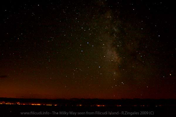 Milky way - La via Lattea vista da Filicudi