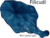 Filicudi Mappa Pecorini e Fossetta