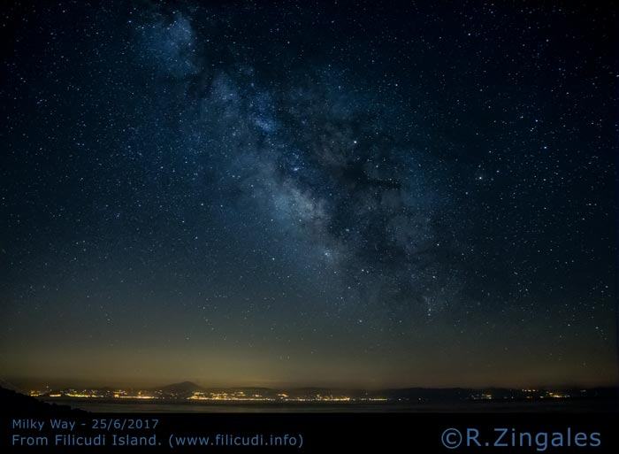 The Milky Way over Sicily seen from our houses in Filicudi