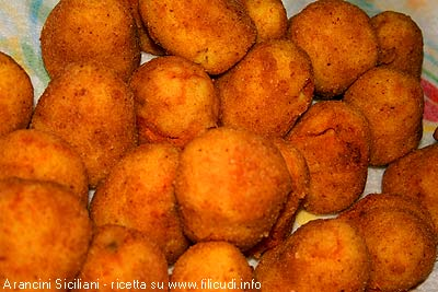 Home made traditional Sicilian Arancini